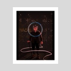 Space Champion - Art Print by Will Ftagn