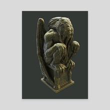 Cthulhu Statuette II - Canvas by Sady M. Izé