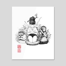 Arigatou - Inktober 2019 - Acrylic by Will Murai