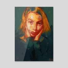 Orange Wedge - Acrylic by John Larriva