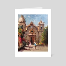 Carmel Mission - Art Card by Mostafa Keyhani