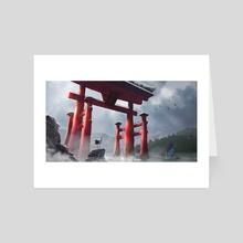 Torii Birds - Art Card by ghost