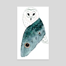 Wise Owl - Canvas by Hannah Wilson