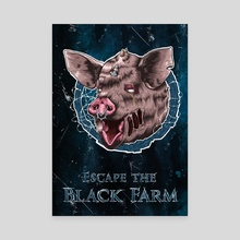 Escape the Black Farm - Canvas by Jörn Meyer