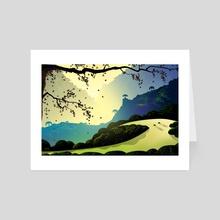 Alum Rock Canyon - Art Card by Tom Carlos