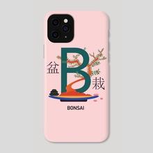 Bonsai in alphabet - Phone Case by Streetillus