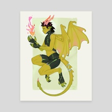 Dragon Student - Canvas by Chantel Eagle