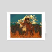 cowboys - Art Card by bhramarii