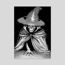 Boney witch - Canvas by Tori Clough
