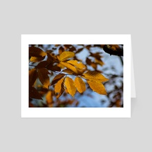 Autumn Leaves IV - Art Card by Ashley Gedz