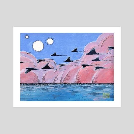 Cloudy Stingrays by Maureen Fletcher
