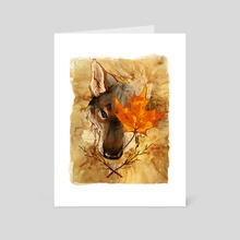 Autumnal Spirit - Art Card by Simhanada Gaither