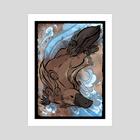 Okami Style: Platypus - Art Print by Aleksandra Popowicz