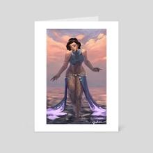 A Mermaid's First Step - Art Card by John Erickson Manalon