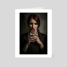 The Damage - Art Card by Artea Media Prints