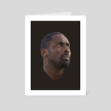 Idris Elba Low-Poly - Art Card by Micah Denn
