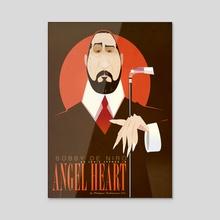 Angel Heart - Acrylic by Marty'nas Juchnevičius