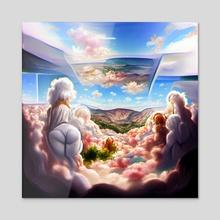 Heaven - Acrylic by Neural Avocado