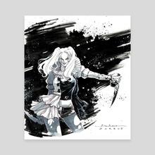 Pennywise Harley Quinn - Canvas by Karen Darboe