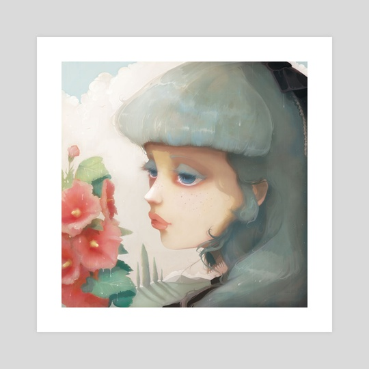 Pensees et Roses Tremieres by Ludovic Jacqz