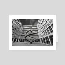 Endless Stairs - Art Card by Adrian Limani