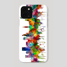 Manchester England Skyline - Phone Case by Towseef Dar
