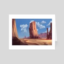 Westward Bound - Art Card by Michael Francis