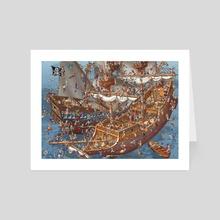 Pirate Battle - Art Card by Carsten Mell