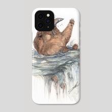 Surprise Salmon! - Phone Case by Lindsay van Ekelenburg