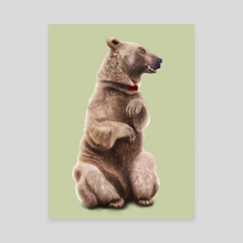 Bow Tie Bear - Canvas by Chloe Wolverton