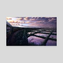 Evening Express - Canvas by Justino Sadur-Torres