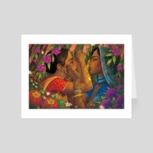 india fantasy - Art Card by zara Kim