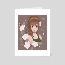 Flower Girl - Art Card by Rebekah Hale