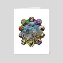Fantasy Zoo - Art Card by Karen Roop