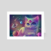 Galaxy Cat - Art Card by Kisuette