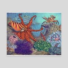 Octopus/s Garden - Canvas by Tom Barrett