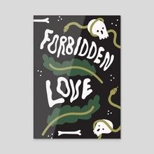 Forbidden love - Acrylic by Teodora Tomović