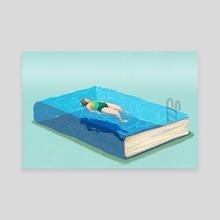 Summer Reading List - Life & Letters - Canvas by Michelle Kondrich