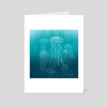 Jellyfish - Art Card by Carl Conway