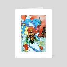 Aquaman X Gyarados Magikarp - Art Card by Creees Hyunsung Lee