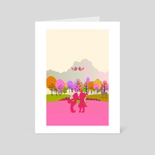 first kiss - Art Card by Michal Eyal