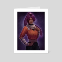 Yoruichi - Art Card by Camila Breda