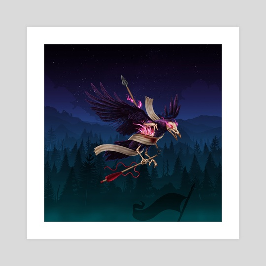 Magic Fire! The Undead Crow by Carlos Tato