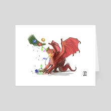 Christmas Dragon - Art Card by The Modern Dragon