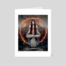 Heart of Fire - Art Card by Cynthia Sheppard