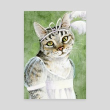 Mary Crawford as a Cat - Canvas by Kaaren Poole