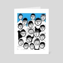 The race - Art Card by Johanne Weilbrenner
