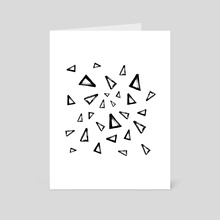 Triangles - Art Card by Nika Akin