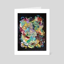 two fish - Art Card by Samantha Ledbetter