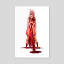 Batgirl - Acrylic by Yaron Topp